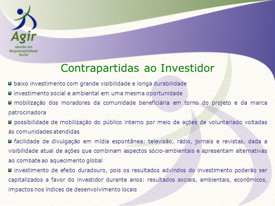Contrapartidas ao Investidor