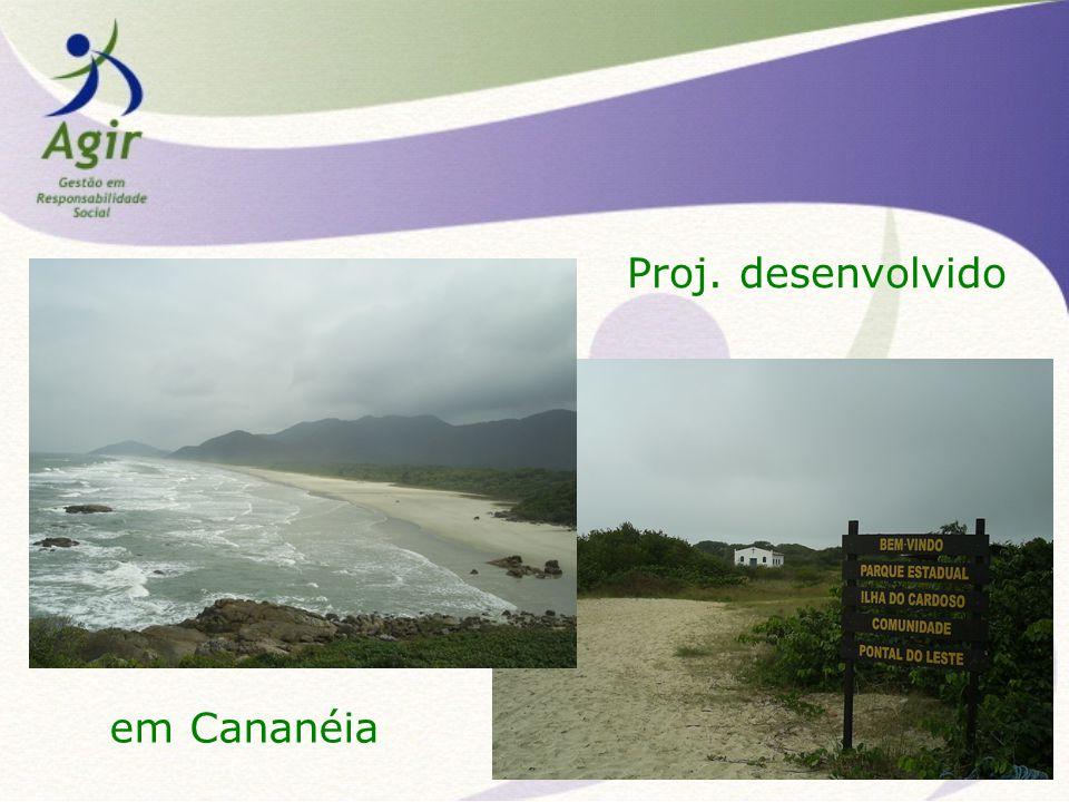 Proj. desenvolvido em Cananéia