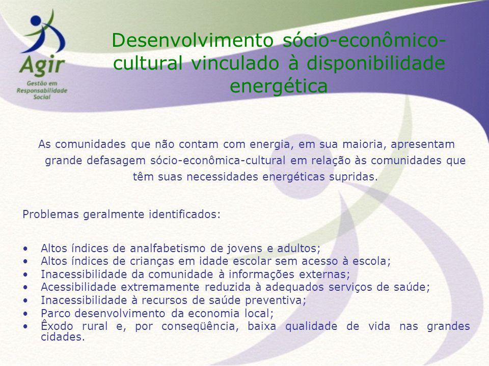 Desenvolvimento sócio-econômico-cultural vinculado à disponibilidade energética
