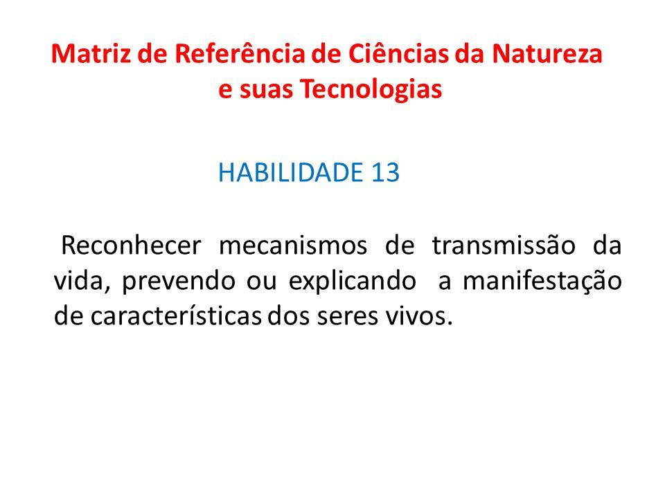 Matriz de Referência de Ciências da Natureza