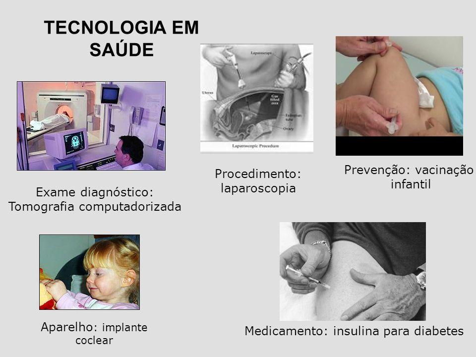 TECNOLOGIA EM SAÚDE Prevenção: vacinação Procedimento: infantil