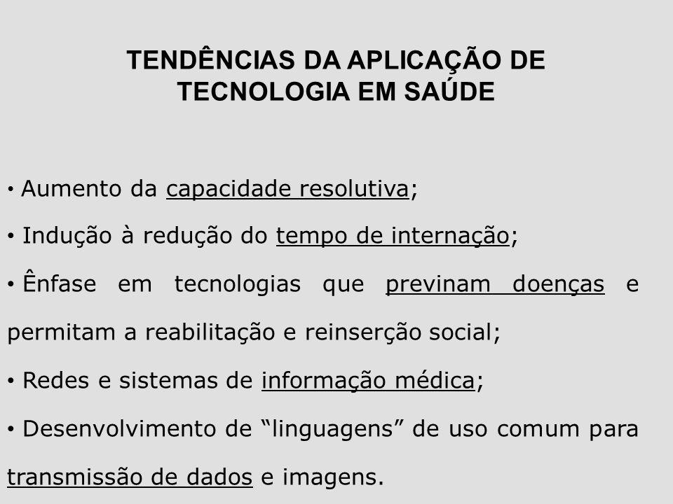 TENDÊNCIAS DA APLICAÇÃO DE TECNOLOGIA EM SAÚDE