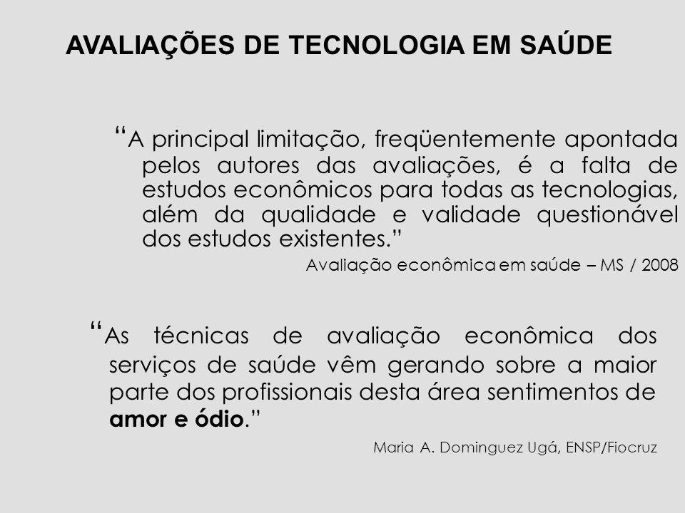 AVALIAÇÕES DE TECNOLOGIA EM SAÚDE