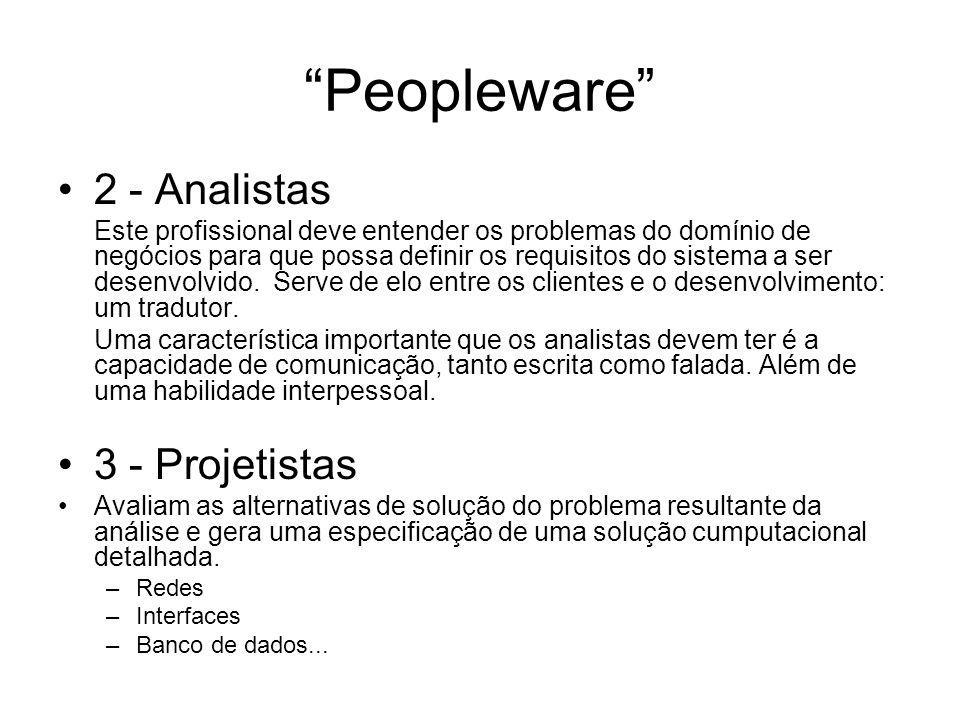 Peopleware 2 - Analistas 3 - Projetistas