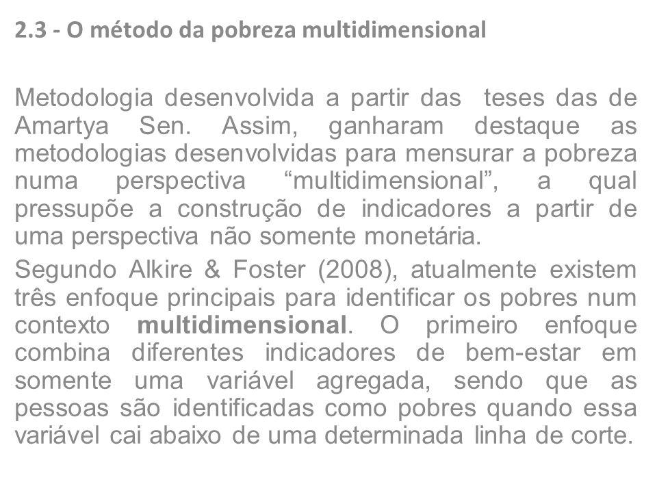 2.3 - O método da pobreza multidimensional