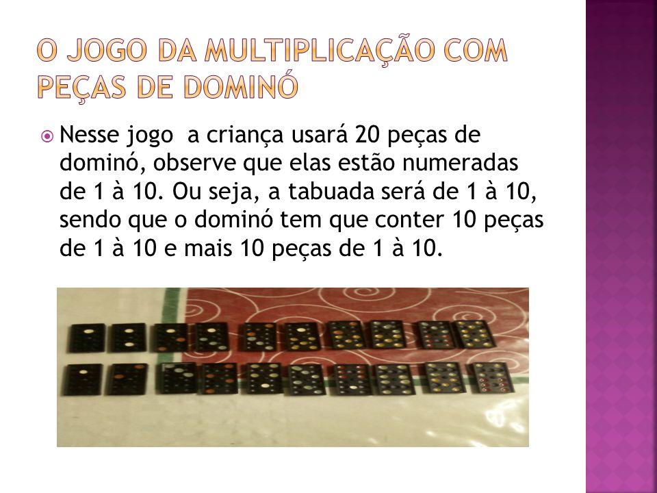 O jogo da multiplicação com peças de dominó