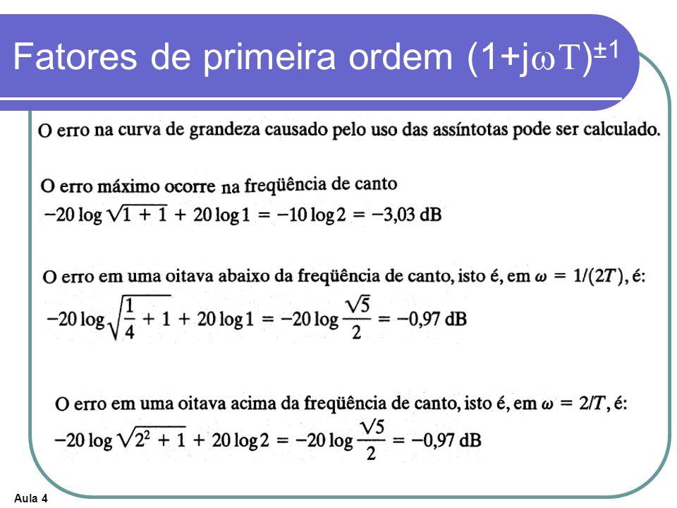 Fatores de primeira ordem (1+jwT)±1