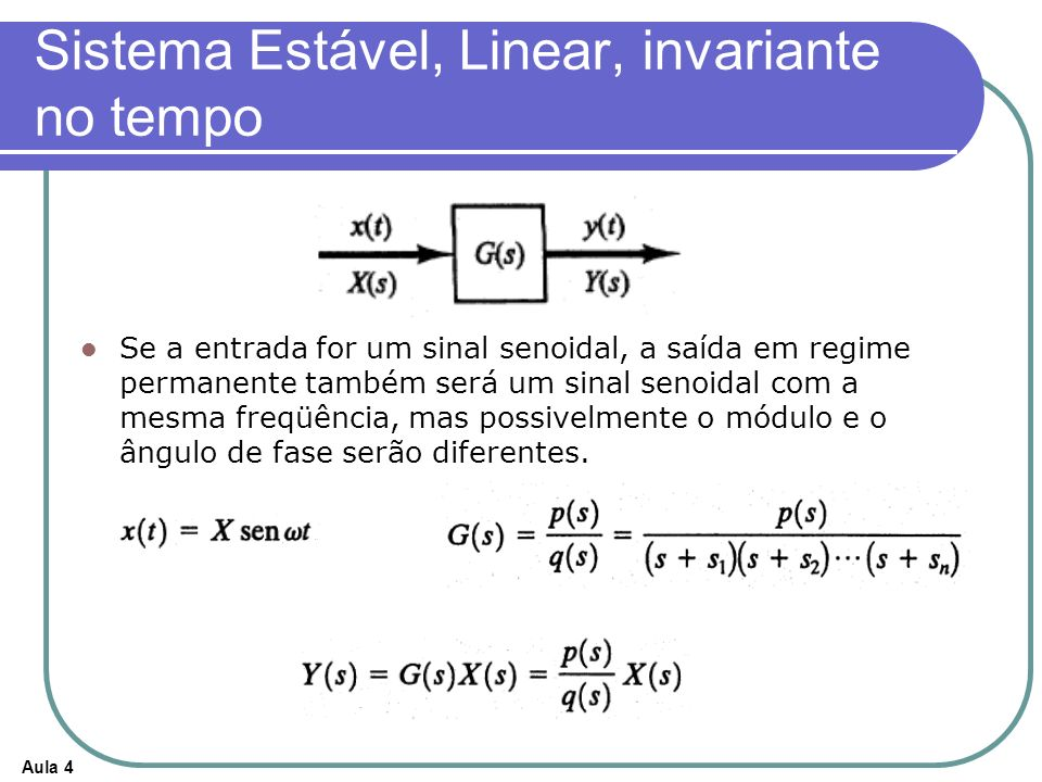 Sistema Estável, Linear, invariante no tempo