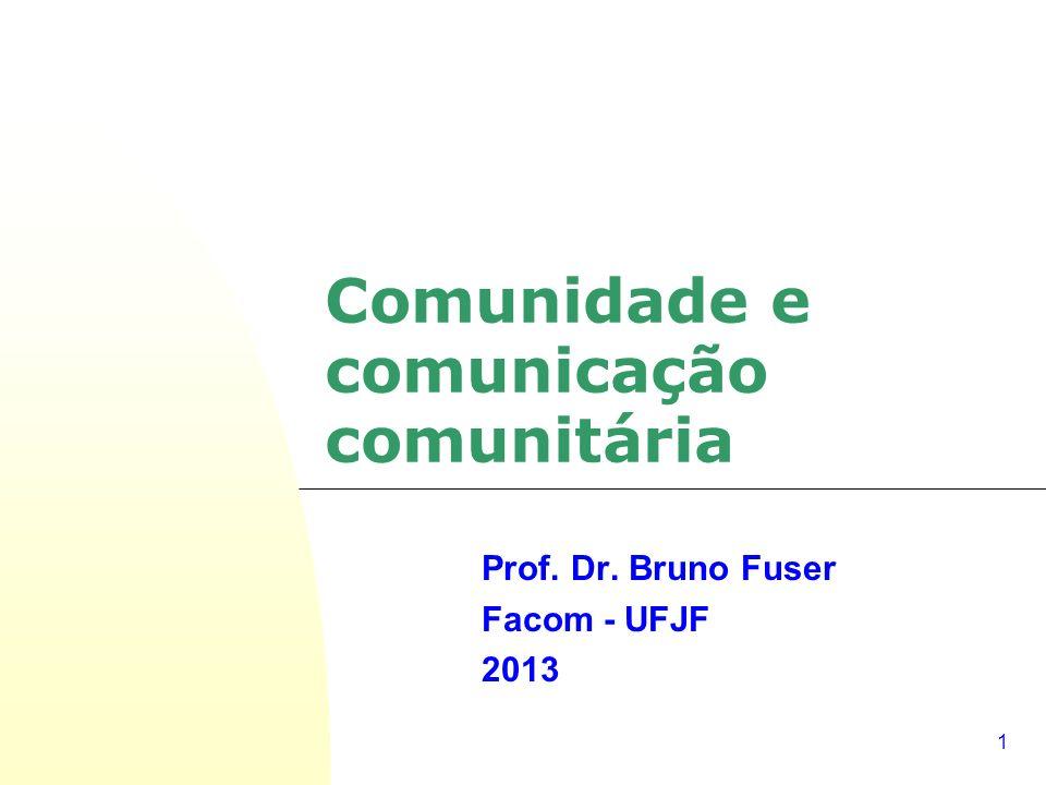 Comunidade e comunicação comunitária