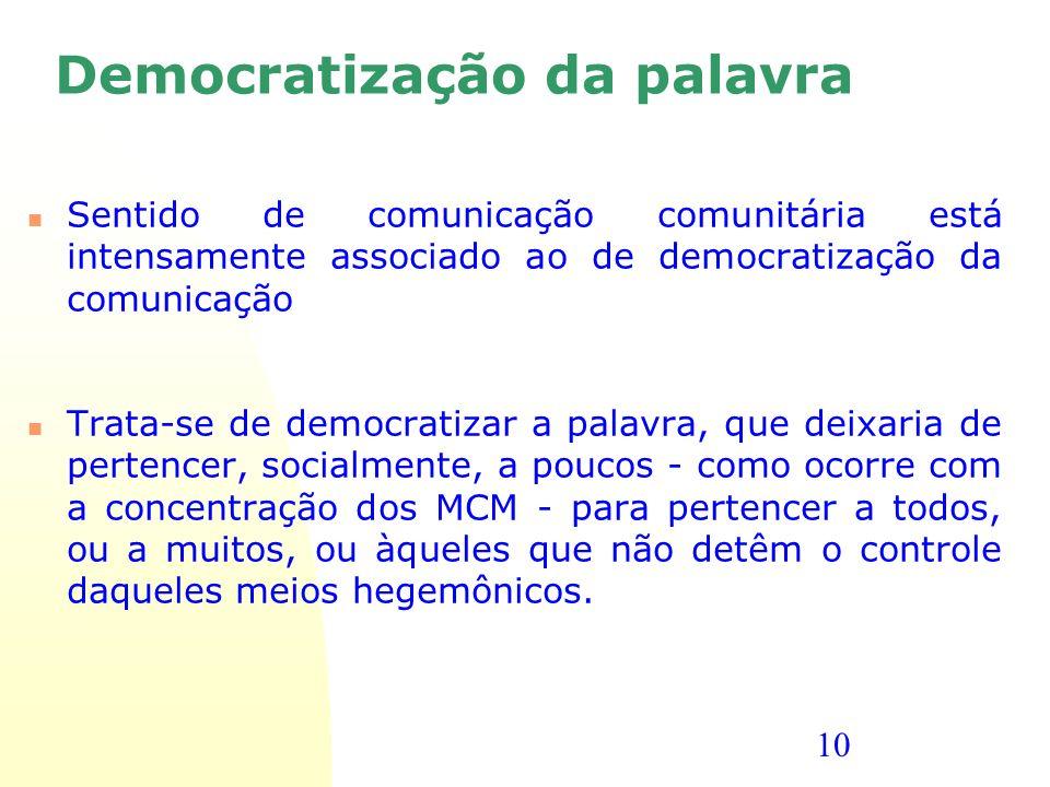 Democratização da palavra