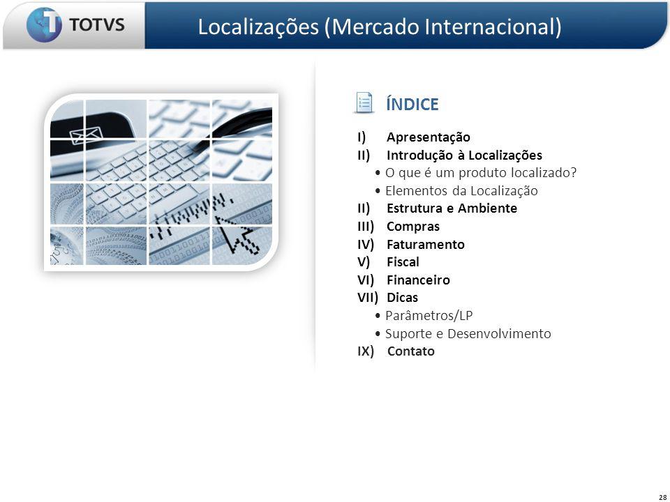 Localizações (Mercado Internacional)