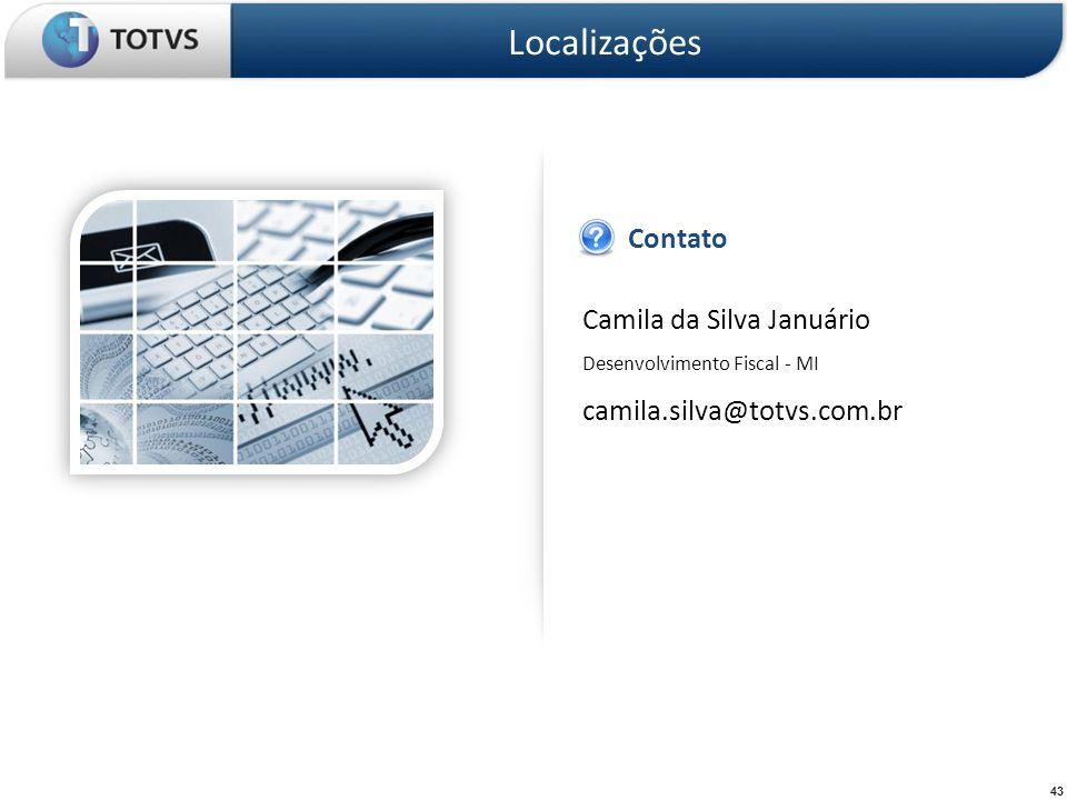 Localizações Contato Camila da Silva Januário