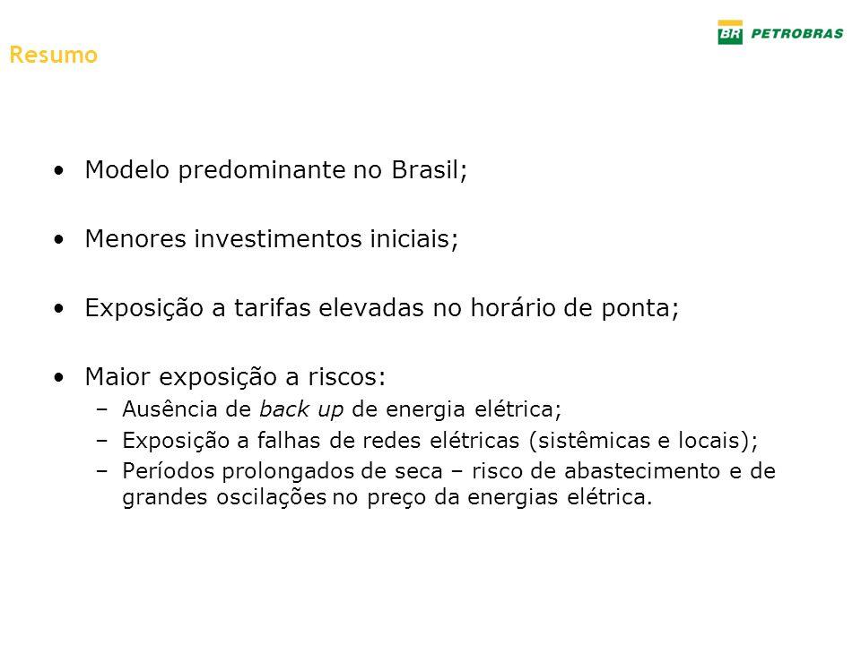 Modelo predominante no Brasil; Menores investimentos iniciais;