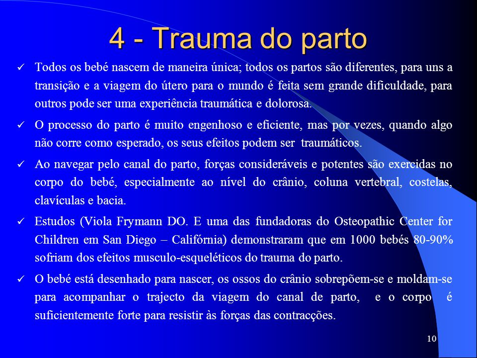 4 - Trauma do parto