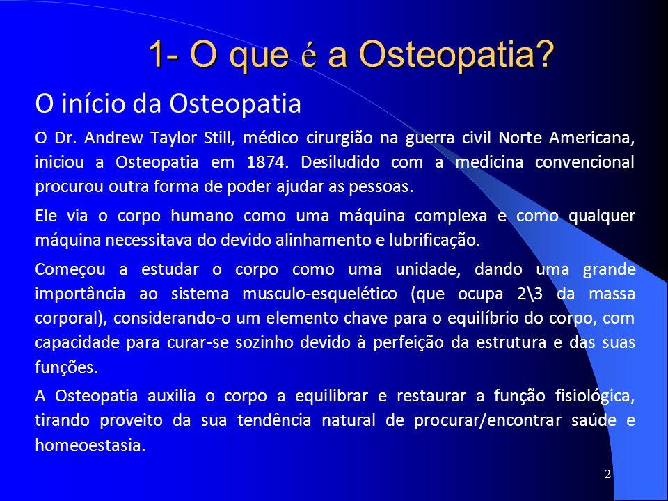 1- O que é a Osteopatia O início da Osteopatia