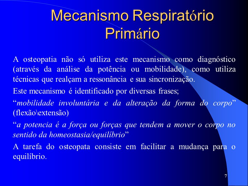 Mecanismo Respiratório Primário