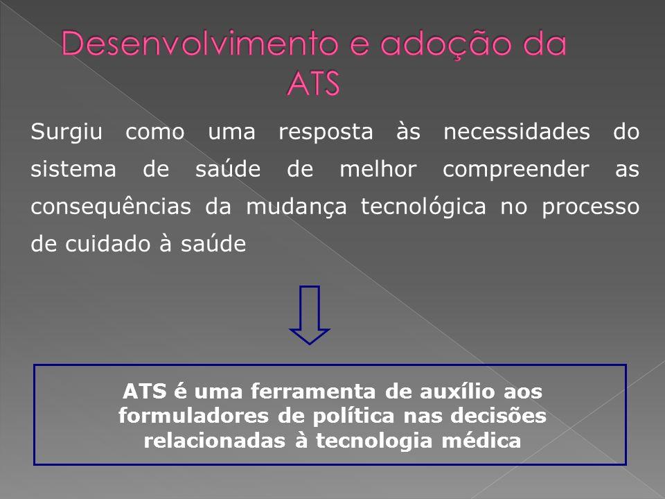 Desenvolvimento e adoção da ATS