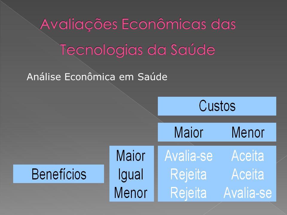 Avaliações Econômicas das Tecnologias da Saúde