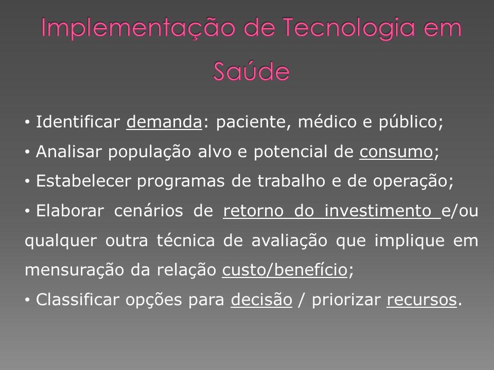 Implementação de Tecnologia em Saúde