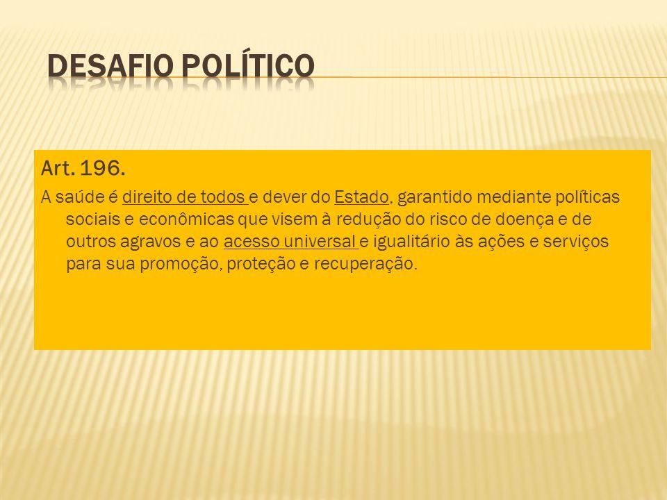 Desafio PolíticoArt. 196.