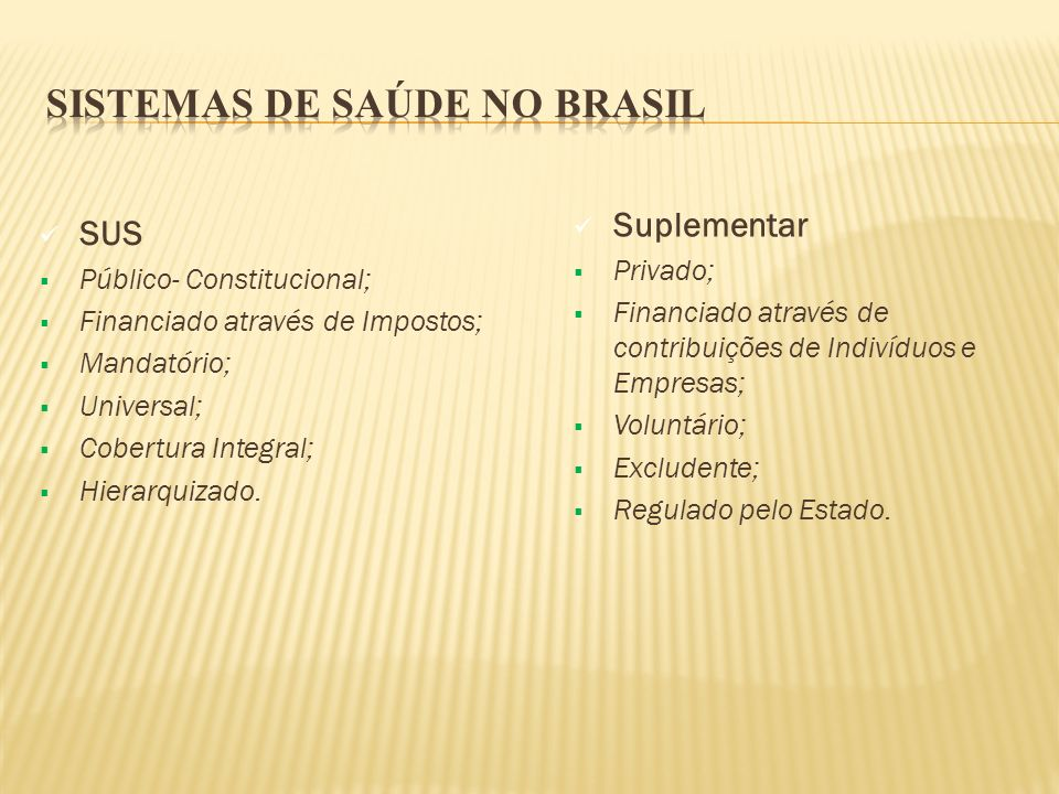 Sistemas de Saúde no Brasil