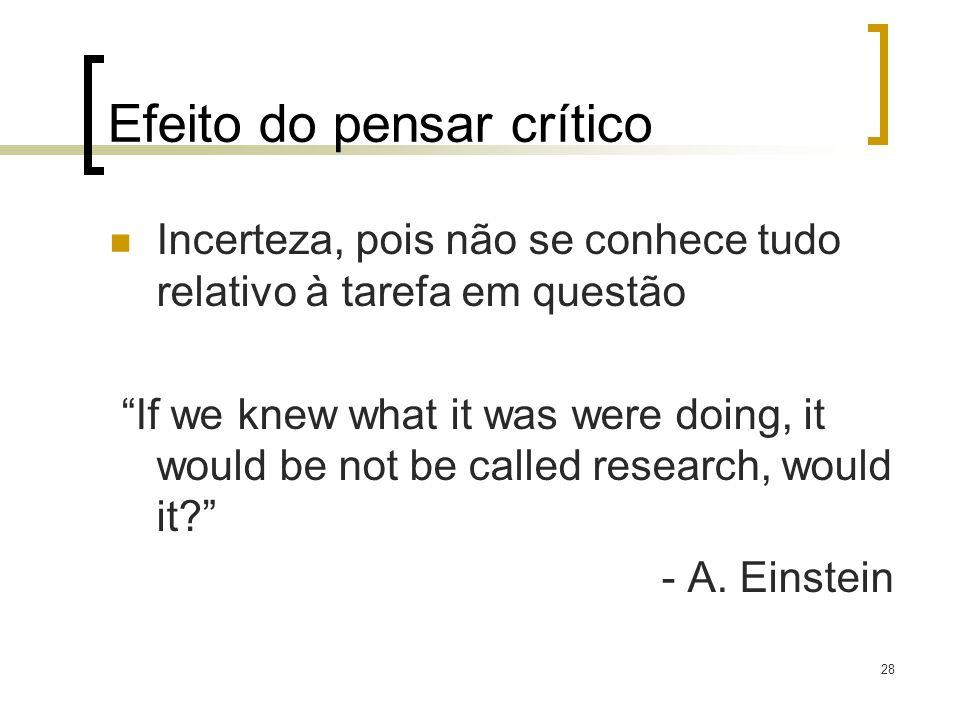 Efeito do pensar crítico