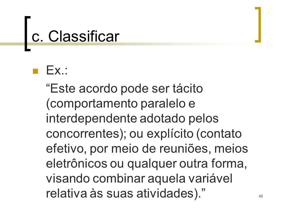 c. ClassificarEx.: