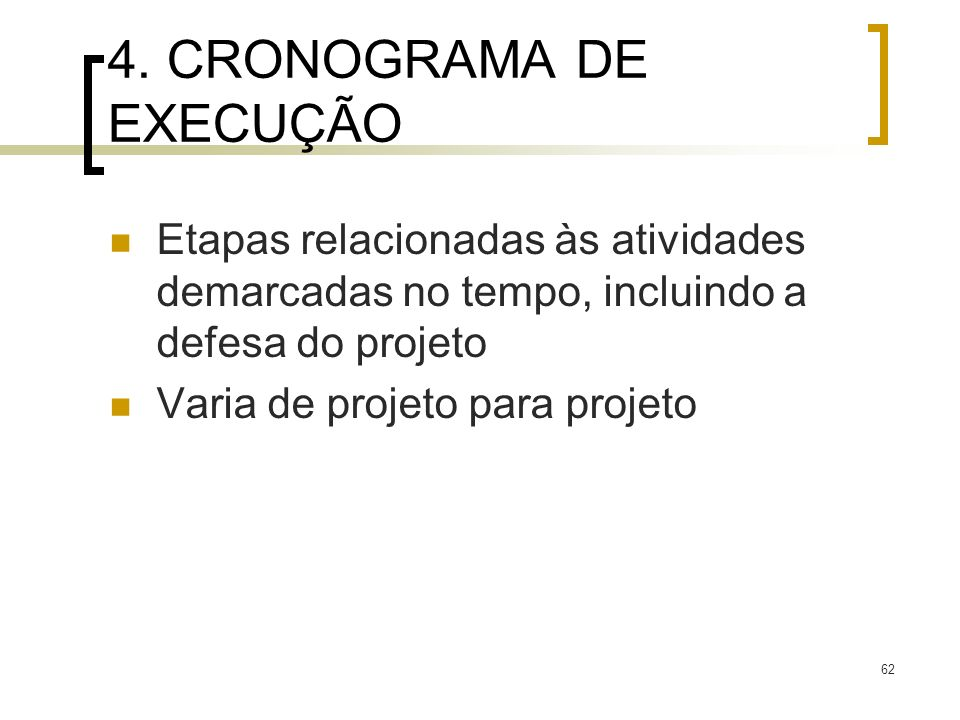 4. CRONOGRAMA DE EXECUÇÃO