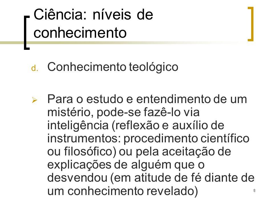 Ciência: níveis de conhecimento