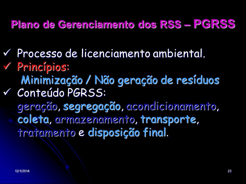 Plano de Gerenciamento dos RSS – PGRSS