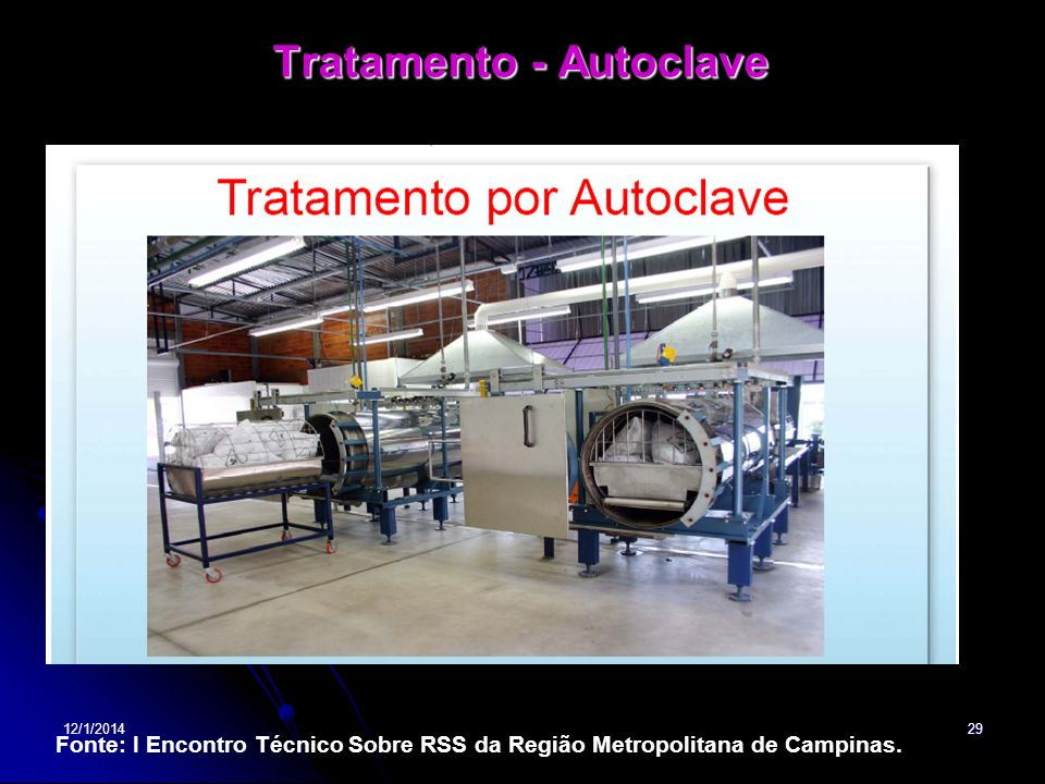 Tratamento - Autoclave