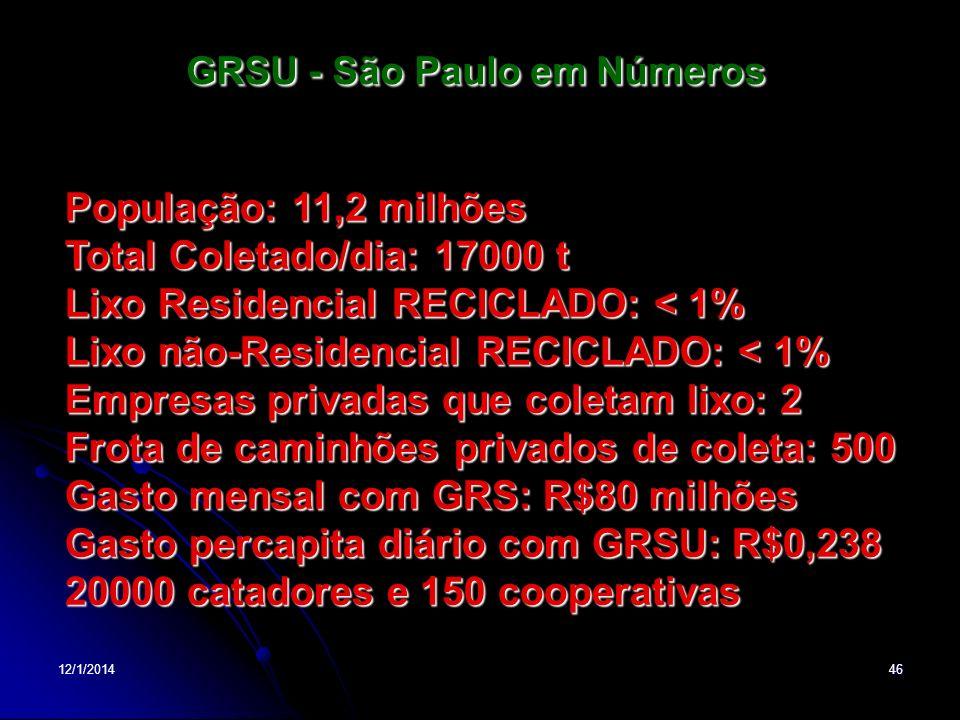 GRSU - São Paulo em Números