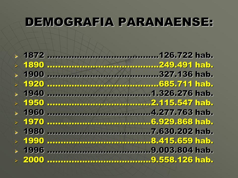 DEMOGRAFIA PARANAENSE:
