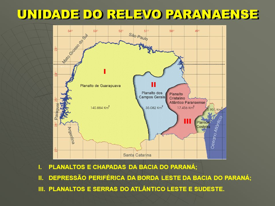 UNIDADE DO RELEVO PARANAENSE