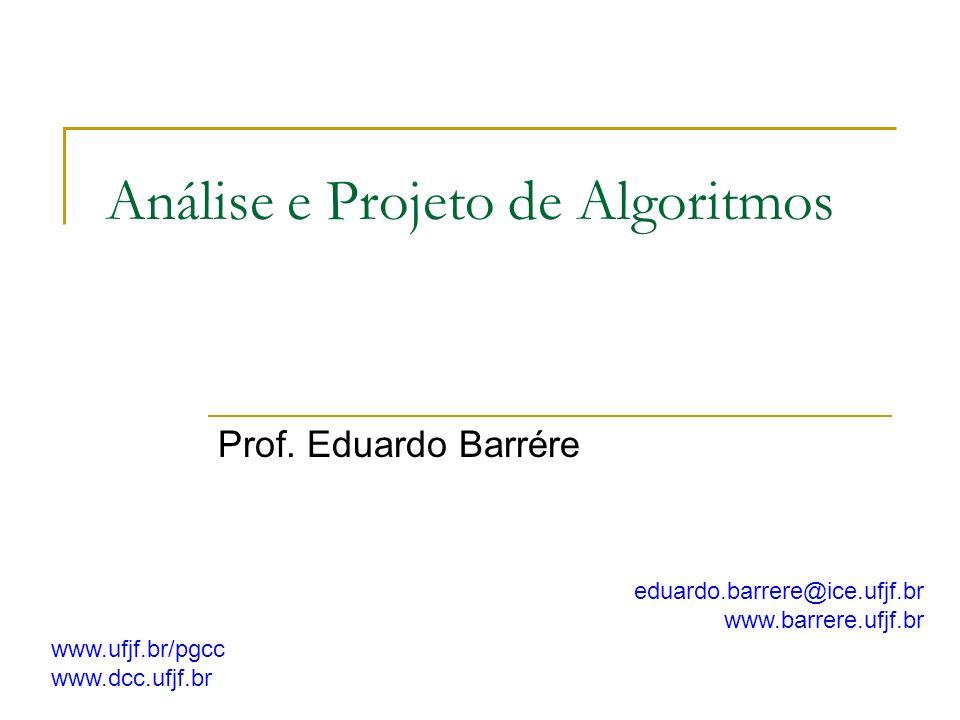 Análise e Projeto de Algoritmos