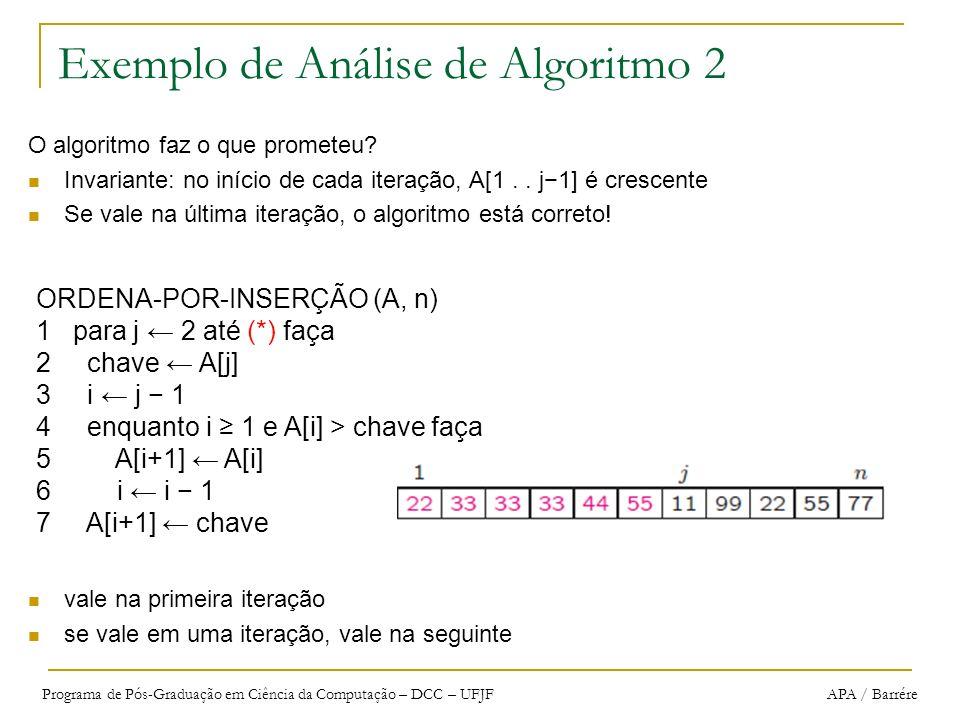 Exemplo de Análise de Algoritmo 2