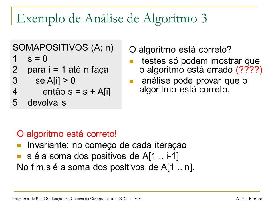 Exemplo de Análise de Algoritmo 3