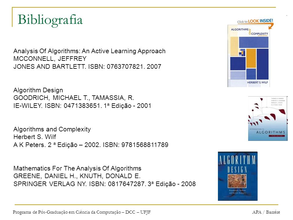 Bibliografia Analysis Of Algorithms: An Active Learning Approach