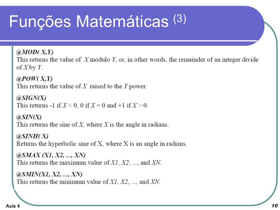 Funções Matemáticas (3)