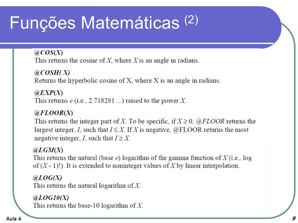 Funções Matemáticas (2)