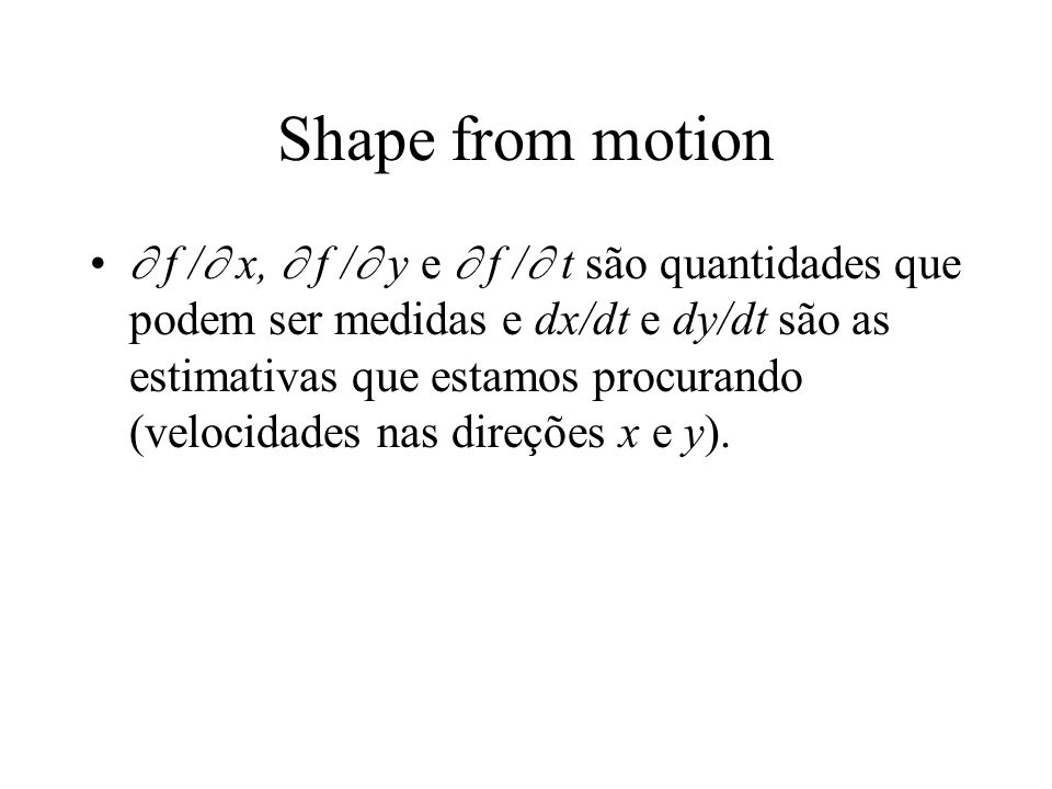 Shape from motion