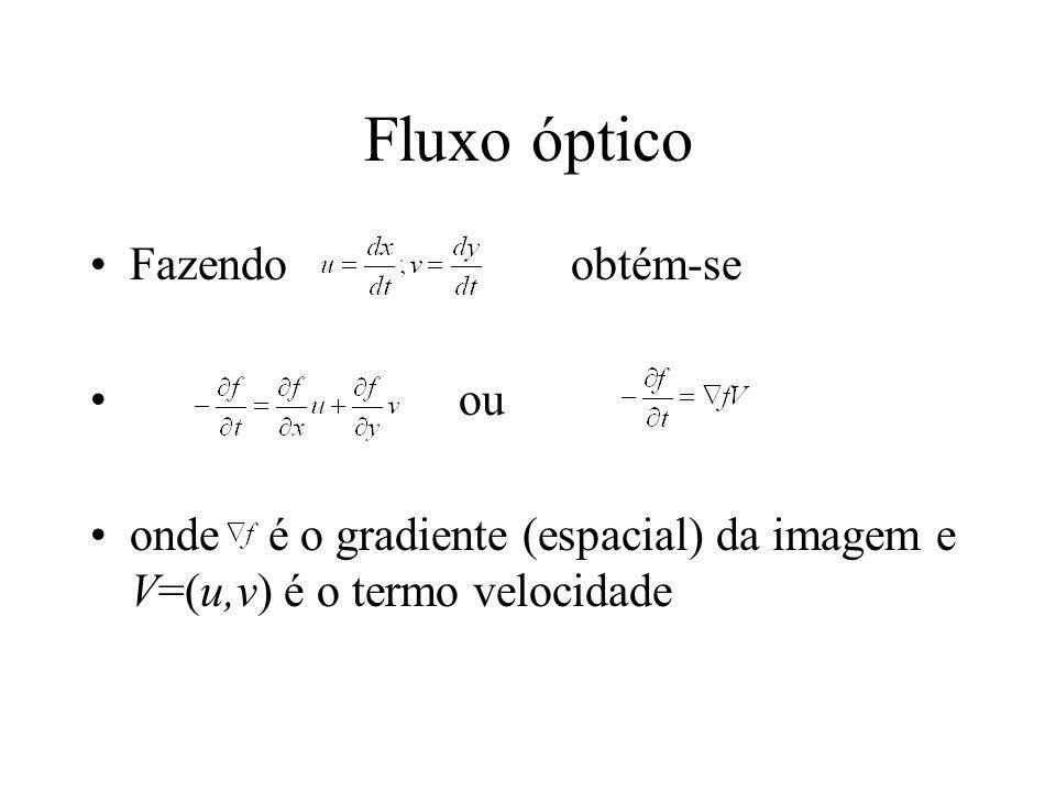 Fluxo óptico Fazendo obtém-se ou