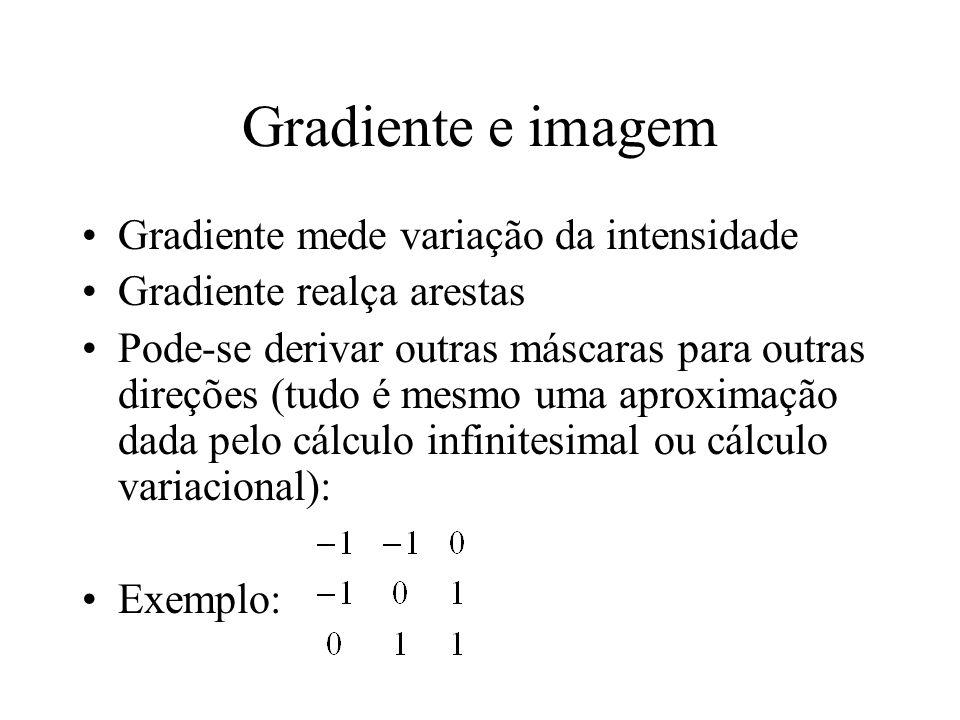 Gradiente e imagem Gradiente mede variação da intensidade