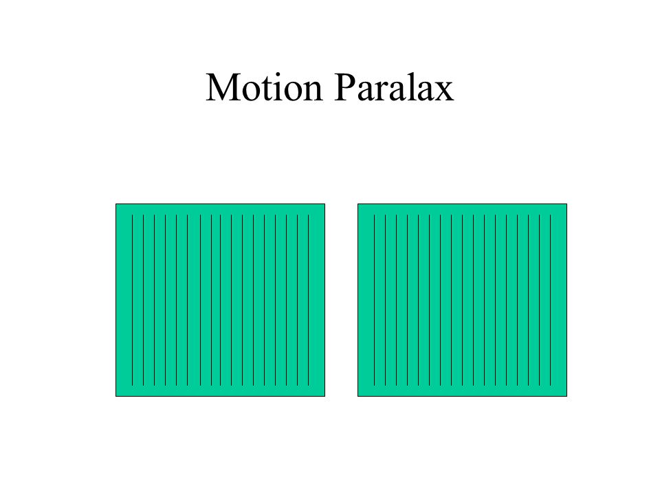 Motion Paralax