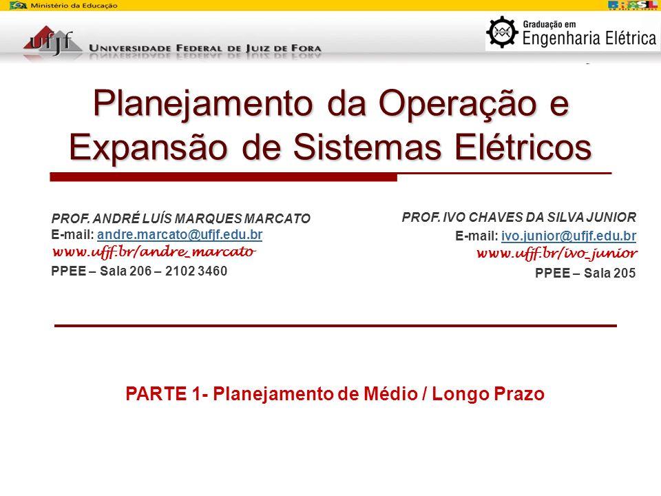 Planejamento da Operação e Expansão de Sistemas Elétricos