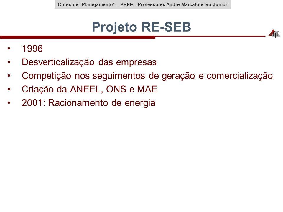 Projeto RE-SEB 1996 Desverticalização das empresas