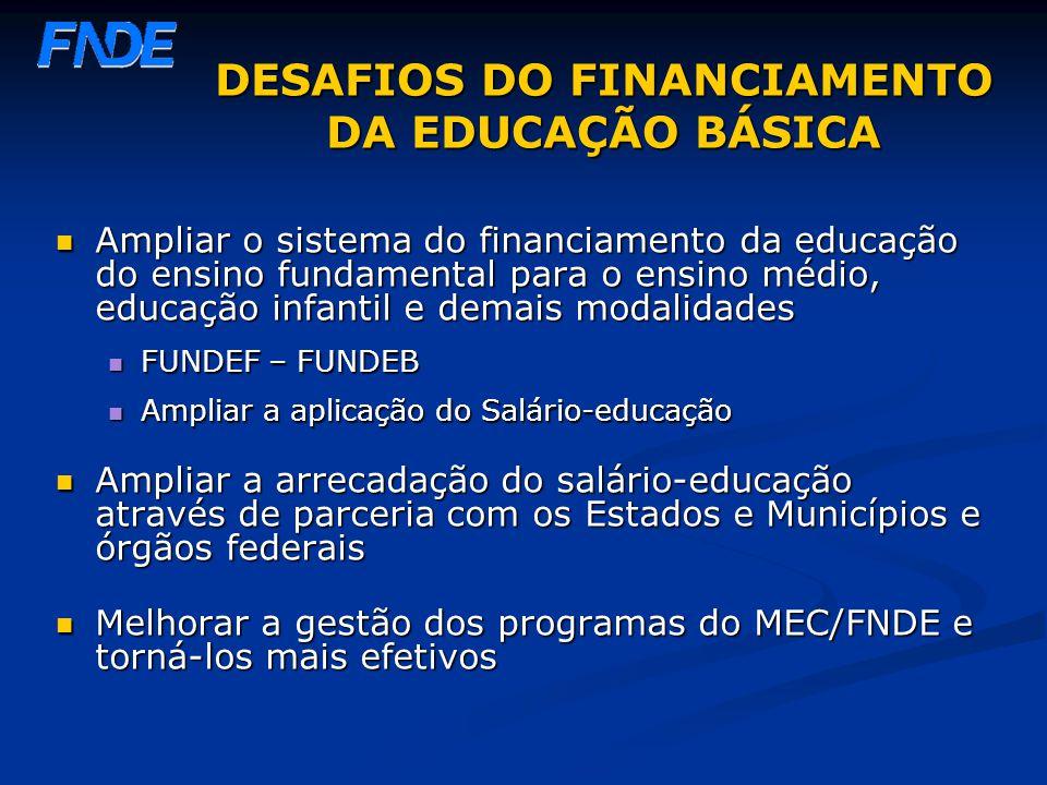 DESAFIOS DO FINANCIAMENTO DA EDUCAÇÃO BÁSICA