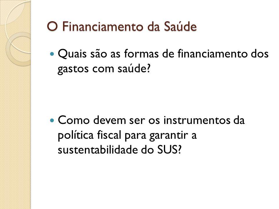 O Financiamento da Saúde