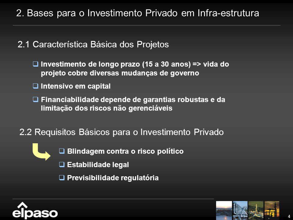 2. Bases para o Investimento Privado em Infra-estrutura