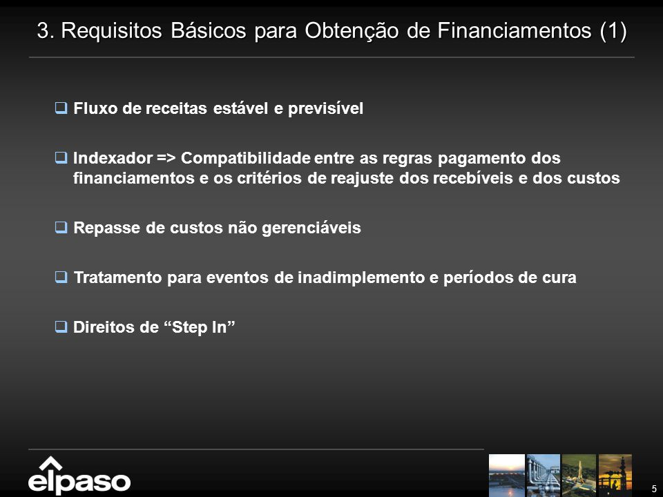 3. Requisitos Básicos para Obtenção de Financiamentos (1)
